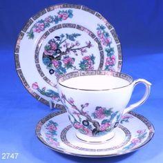 Duchess Indian Tree Vintage Bone China Tea Cup, Saucer and Tea Plate Trio