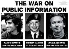La guerra de la información pública.