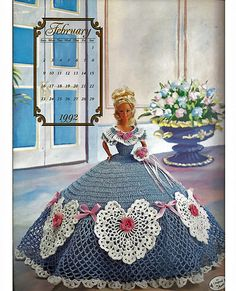 Miss February The Cotillion Collection  Fashion Doll  Crochet Pattern  Annies Attic.