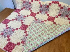 Lap Quilt/Throw Size Quilt/Extra Large Baby Quilt on Etsy. $150, free shipping.