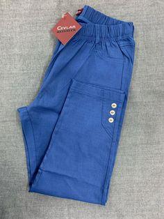 Spodnie z bengaliny Cevlar B03 kolor niebieski - Big Sister