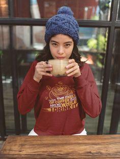 Latte Macchiato, Coffee Cafe, Shirt Designs, Winter Hats, Crochet Hats, My Love, Shirts, Beautiful Artwork, Grandma And Grandpa