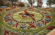 Floral Clock in Princes Street Gardens, Edinburgh, Scotland - possibly 1910 (postcard) England And Scotland, Edinburgh Scotland, Scotland Travel, Topiary Garden, Garden Art, Amazing Gardens, Beautiful Gardens, Floral Clock, Parks