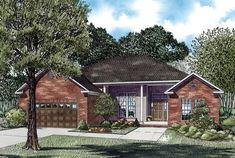 Elevation of House Plan 62329