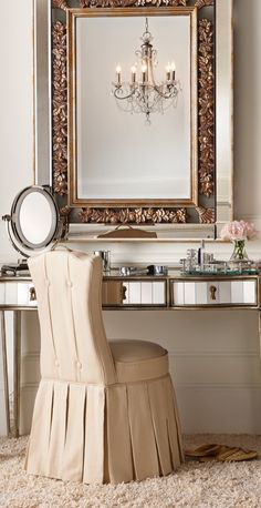 You'll love the interplay of light as it dances on Lissette's mirrored sides and center.