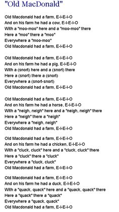 old mcdonald had a farm httpwwwdltk - Dltk Teach