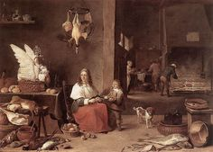 David Teniers the Younger (1610–1690)  Kitchen Interior or Kitchen Scene Date1644