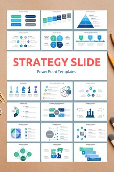 Strategy PowerPoint Slide Templates - creative design business presentation templates in PowerPoint. Ready template, easy to edit. #BusinessStrategy #Strategy #PowerPoint #Design #Creative #Presentation #Slide #Infographic #Template Presentation Slides Design, Business Presentation Templates, Business Templates, Resume Templates, Infographic Resume, Infographics, Web Design Tips, Creative Design, Graphic Design