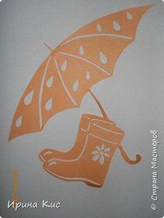 Cool Paper Crafts, Diy Paper, Paper Art, Autumn Crafts, Summer Crafts, Stencil Decor, Stencils, Kirigami, Umbrella Cards