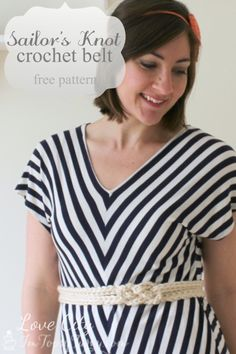 Im Topsy Turvy: Sailor's Knot Crochet Belt #freepattern #crochet #belt @Lindsay Haynie