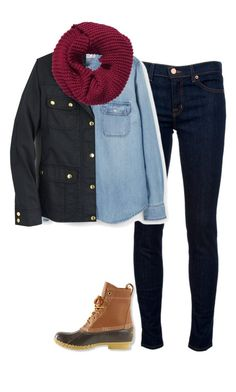 """""""{day 6}"""" by preppy-southern-girl-1-2-3 ❤ liked on Polyvore featuring J Brand, MANGO, J.Crew, H&M, L.L.Bean and evelynsfirstdayofschool"""