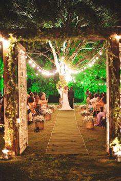 Casamento ao ar livre - Perfeito!
