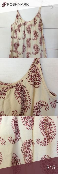 Ann Taylor Loft Paisley Tank! Linen/Rayon Blend Tank by Ann Taylor Loft! Great condition, size small! This top would look so cute with shorts and sandals or dress it up with skinny jeans for date night! Bundle with my other listings and save! Comment with any questions! LOFT Tops Tank Tops