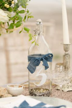 The Perfect Palette: Now Trending: Dusty Blue Vintage Inspired Wedding Details
