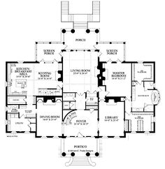 plan 44045td: center hall colonial house plan | narrow lot house