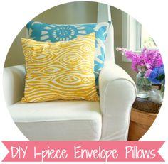 http://thehappyhousie.com/super-crazy-easy-fast-ten-minute-one-piece-envelope-pillows/