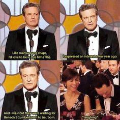 Benedict Cumberbatch at Award Ceremony.