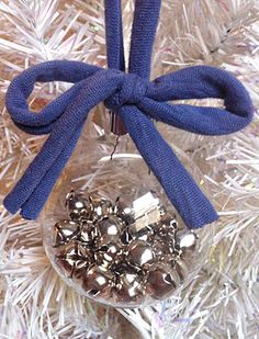 jingle bell ornament -with a different ribbon