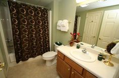 """Condo 123-Spacious Bathrooms for all """"our stuff."""" #RPMCondos #WhisperingPines #PigeonForge #GSMNP #Vacation"""