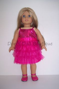 35a31ce77d2d Dori's Doll Boutique - 3064-PINK SEQUIN AND TULLE PARTY DRESS, $12.96 (http