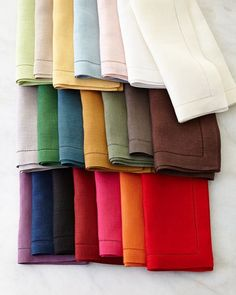 Hemstitched Table Linens