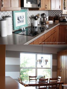 paint color, like backsplash design  #paint perfect #stripe tips