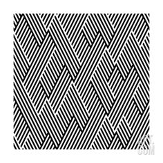 Pattern In Zigzag With Line Black And White Art Print by Lavanda at Art.co.uk