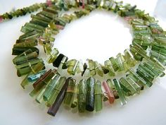 1/2 StrandWatermelon Green Tourmaline Crystal Stick by norah62, $29.99