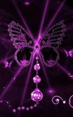 Purple Butterfly ❋ Purple and Black ❋ Purple Love, All Things Purple, Shades Of Purple, Deep Purple, Purple And Black, Pink Purple, Purple Stuff, Purple Art, Purple Diamond