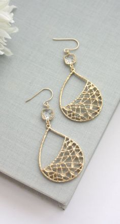 Boho filigree drop earrings