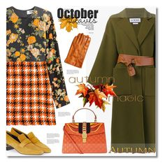 """Autumn Magic"" by anne-irene ❤ liked on Polyvore featuring MSGM, Loewe, Topshop and Gucci"
