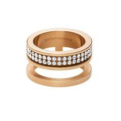 Reca Ring, Roséguld/Kristall, Dyrberg/Kern