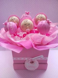 Shower or new baby cake pops