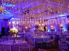 Maybe a subtler tone of blue, not quite purple. Just enough dimness to get the effect of the twinkling lights