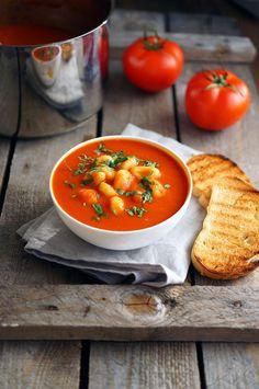 Томатный суп-пюре с ньокки