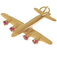 Jet Plane Gold Charm   Gold Jet Charm   Gold Plane Charm   Plane Charm Bracelet