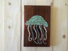 Sign of The Sea beach glass sea glass art Jellyfish by SignsOf