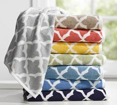 Jacquard Organic Bath Towels