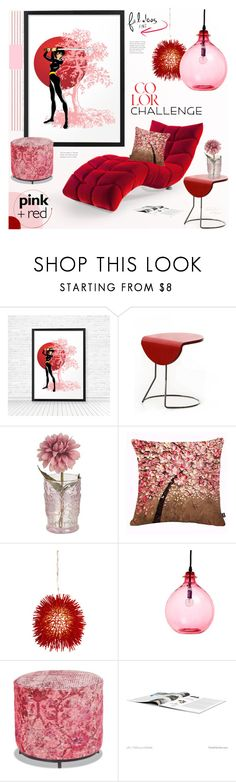 """Samurai and Sakura Book Nook"" by theseapearl ❤ liked on Polyvore featuring interior, interiors, interior design, home, home decor, interior decorating, Cloud 7, Varaluz, abcDNA and 601"