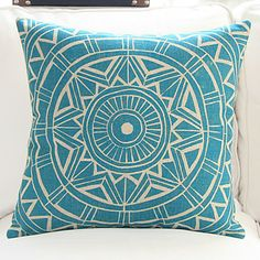 "18"" Exotic Geometric Pattern Cotton/Linen Decorative Pillow Cover – CAD $ 17.85"