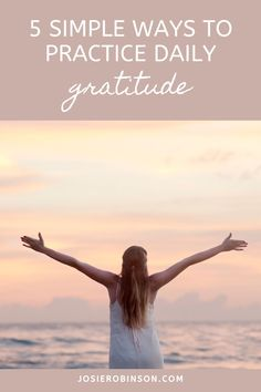 Discover how to begin a daily gratitude practice to add more joy and positive energy to your life! #gratitude #selfcare #healing #attitudeofgratitude Gratitude Jar, Practice Gratitude, Attitude Of Gratitude, Self Improvement Tips, Be A Better Person, Best Self, Simple Way, Self Care, Good News
