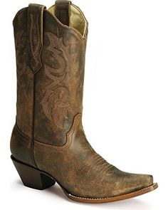 Corral Womens Distressed Leather Western Cowgirl Boot Snip Toe Distressed 85 M US >>> Click on the image for additional details.(This is an Amazon affiliate link and I receive a commission for the sales) #WomensMidCalfBoots