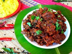 Beef Peralan- Kerala Style Beef Spicy Ghee Roast- Nadan Erachi Piralan