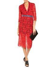 Red Lace Zip Detail Dress Preen by Thornton Bregazzi 2