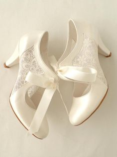 Ivory wedding shoes with transparent lace and satin ribbons Etsy - . Ivory wedding shoes with transparent lace and satin ribbons Etsy – Wedding – Designer Wedding Shoes, Wedding Shoes Bride, Wedding Boots, Bride Shoes, Ivory Wedding, Vintage Wedding Shoes, Vintage Weddings, Wedding Ribbons, Unique Wedding Shoes