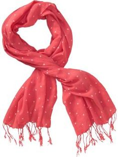 Old Navy polka dot scarves