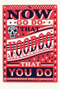 Now Do That Voodoo print by James Brown