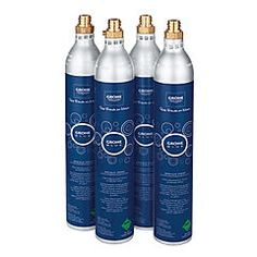 Grohe Blue CO2 Flasker 4 stk, Shampoo, Personal Care, Bottle, Red, Blue, Self Care, Personal Hygiene, Flask, Jars