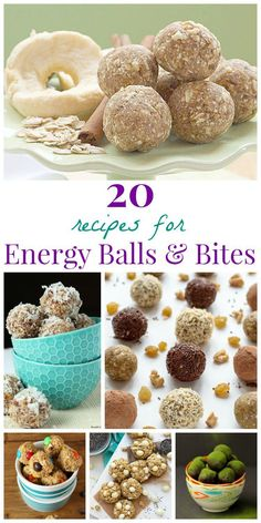 Power Your Day with 20 Recipes for Energy Balls and Bites - options for everything from vegan to paleo, gluten free to low carb, and more!