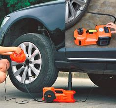 Electric Car Jack, Impact Wrench, and Tire Inflator car accessories Electric Car Jack, Impact Wrench, and Tire Inflator Kia Soul Accessories, Truck Accessories, Chevrolet Bel Air, Cool Car Gadgets, Nissan, Car Wheels, Car Cleaning, Electric Cars, Thoughts